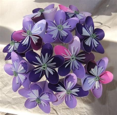 Origami Bouquet Of Flowers - purple origami flower bouquet aftcra