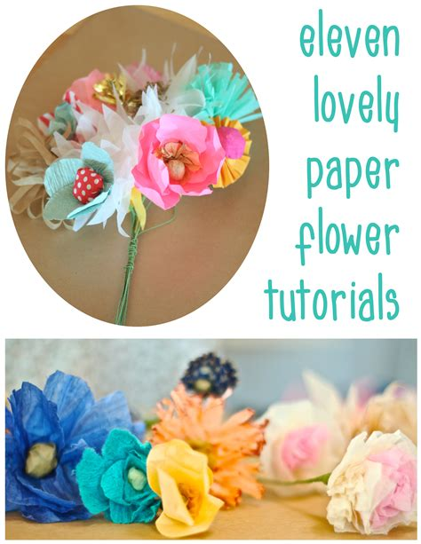 11 diy paper flower tutorials dear handmade