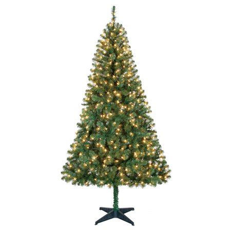 holiday time pre lit 65 madison pine white artificial christmas tree clear lights time pre lit 6 5 pine green artificial tree clear lights walmart