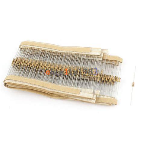 500 ohm 1 4w resistor 500pcs 1kω 1k ohm 1 4w 0 25w 5 carbon resistors resistance ebay