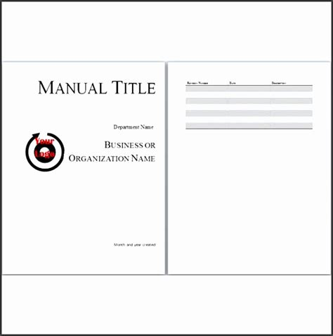 6 free user manual templates excel pdf formats 6 staff training guide template sletemplatess