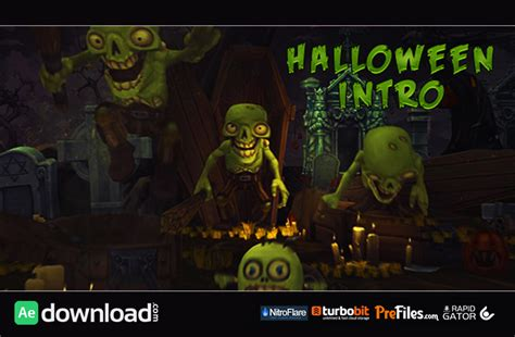 template after effects halloween free halloween intro videohive project free download free