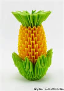 Origami Pineapple - modular origami pineapple by origamimodulowe on deviantart