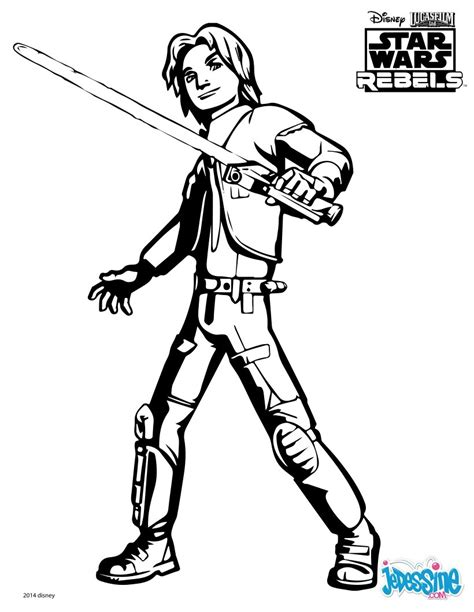 rebels ezra coloring pages coloriages wars rebels ezra fr hellokids