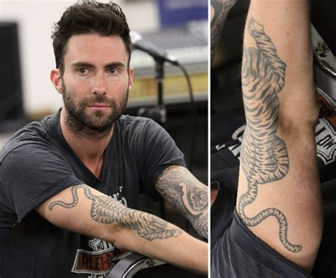 maroon 5 tattoo adam levine tattoos tattooed