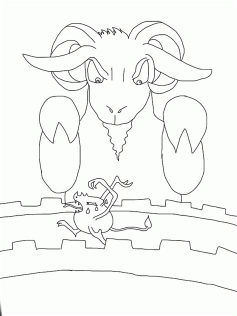 three billy goats gruff troll coloring pages az coloring
