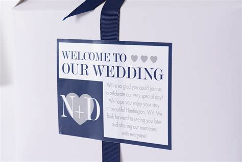 Wedding Box Message by Welcome Message Wedding Favor Boxes Labelsrus