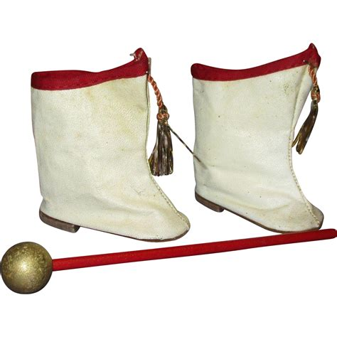 majorette boots vintage 1950s majorette doll boots and baton from
