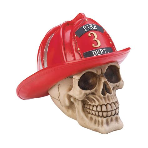 Christian Home Decor Wholesale by Firefighter Skull Figurine At All Wholesale Gifts