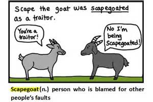 scapegoat definition flashcard monkey dictionary