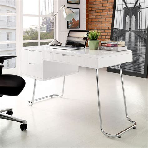 swing computer modern swing home office computer desk high gloss white