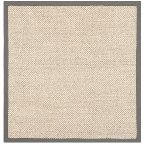 4 square rug safavieh fiber marble grey 4 ft x 4 ft square area rug nf443b 4sq the home depot
