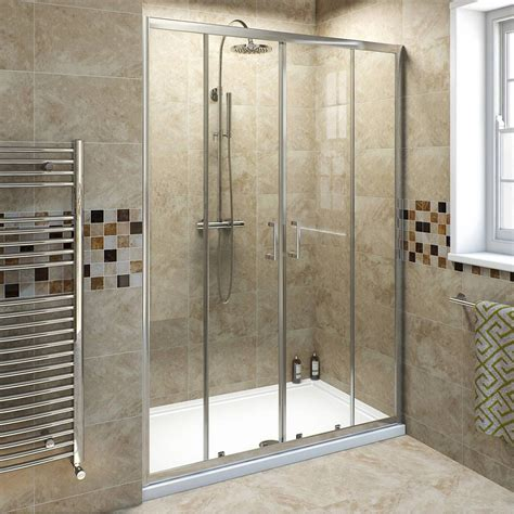 Bathroom Glass Sliding Shower Doors Frameless Sliding Glass Shower Doors Practical Door Stair Design