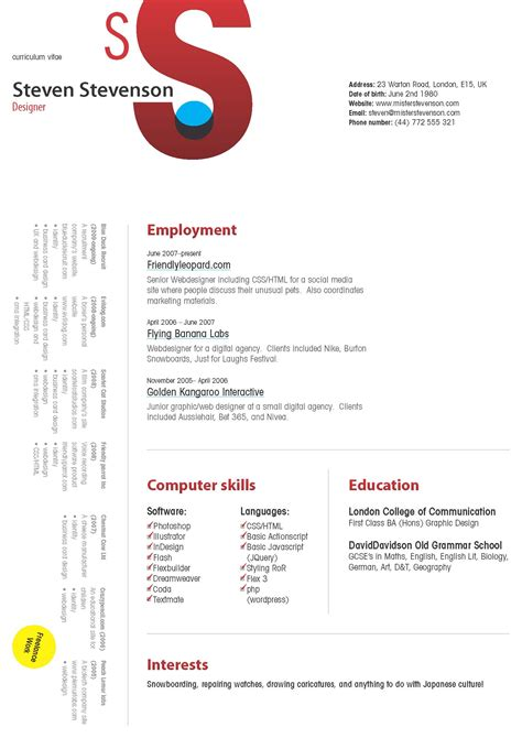 Cool Resume Designs by Cool Resume Designs