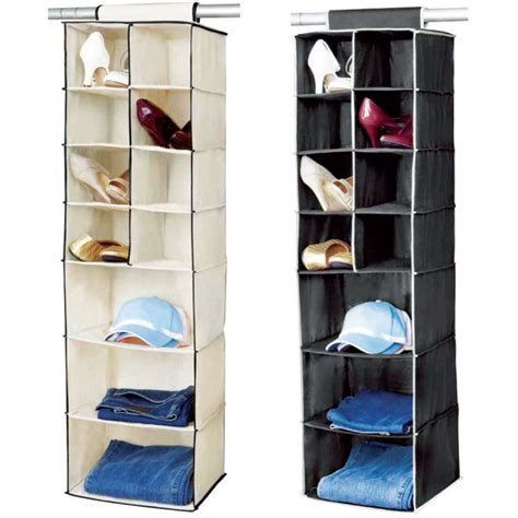 hanging clothes storage 7 shelf hanging organiser wardrobe clothes tidy shoes