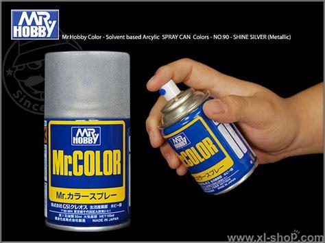 Spraycan Mr S90 Shine Silver gunze sangyo mr hobby color solvent based arcylic spraycan no 90 shine silver metallic