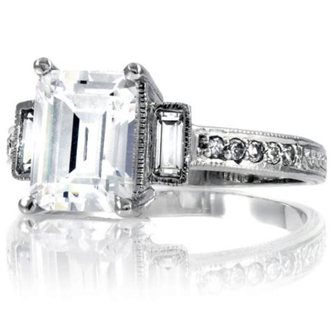 emerald cut antique engagement ring emerald cut antique