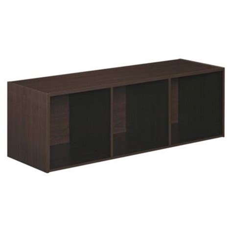 closetmaid 3 cube bench espresso closetmaid cubeicals stackable 3 cube organizer espresso