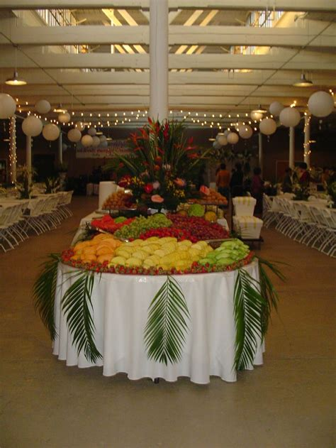 fruit display table all things fruit carving pinterest