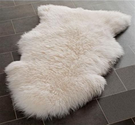 White Fur Throw Rug by Genuine Sheepskin Rug Single Pelt White Fur