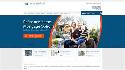 Mortgage Website Templates Responsive Templates For Mortgage Web Sites Lenderhomepage Com Mortgage Website Templates