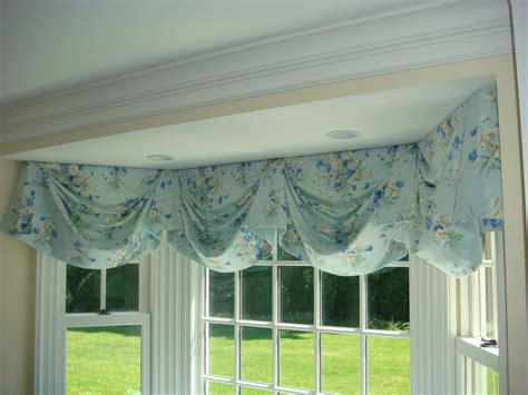 swag curtains for bay windows swag valance for bay window valance swag and window