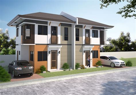 Low Cost Duplex Living Rooms Design Philippines 2 Storey Townhouse Design In The Philippines Studio