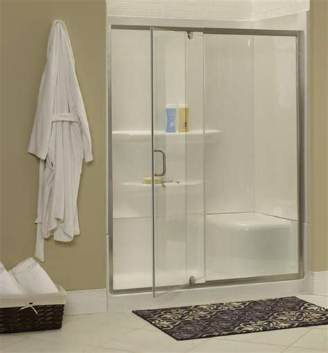 glass shower doors menards cove frameless door and panel 54 60 quot wide by 69 quot high at menards 460 w silver frame
