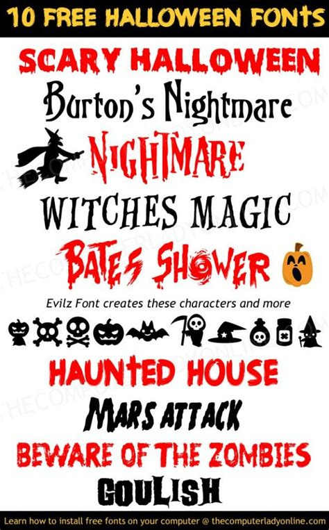 printable scary fonts 10 free spooky halloween fonts free fonts and clip art