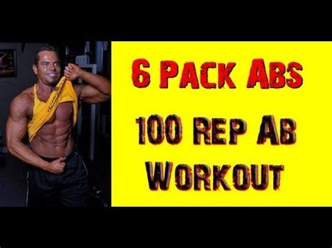 100 rep ab workout routine get 6 ripped pack abs