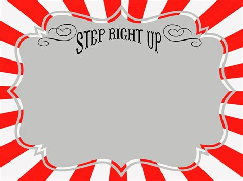 carnival sign template diy carnival signs the balloon