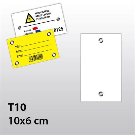 Hängeetiketten by H 228 Ngeetiketten Aus Kunststoff Mit Zwei 214 Sen 10x6 Cm T10