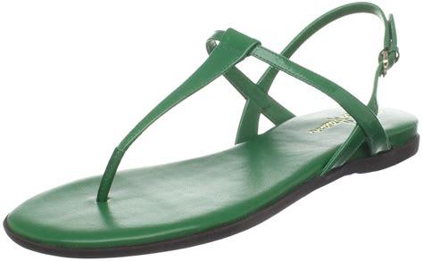 Sandal Flat Tali And Rani cole haan womens air tali flat sandal in green patent lyst