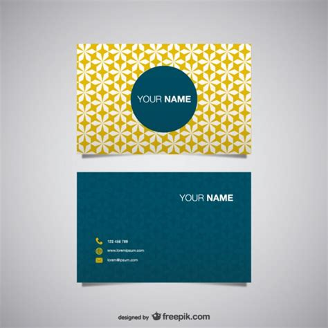 Free Business Card Templates Vector by 20 Free Business Card Design Templates From Freepik