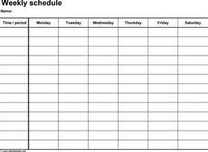 schedule form template weekly pregnancy blank templates 2016 printable calendar