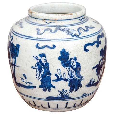 blue and white porcelain jar 20th century
