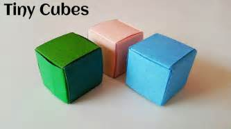 Easy Origami Cube One Paper - easy origami cube one paper comot