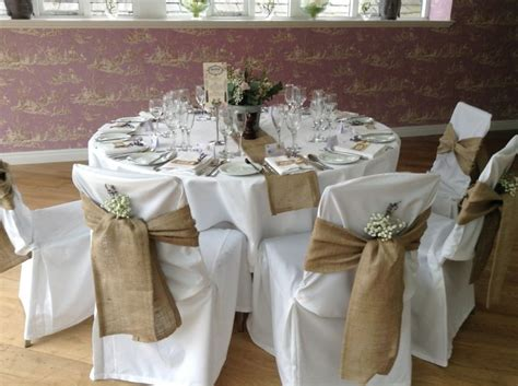 wedding tables and chairs cover chair covers wedding burlap recherche f 234 te