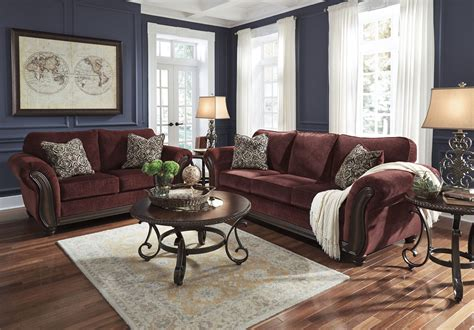 burgundy living room furniture chesterbrook burgundy living room set from ashley 8810238