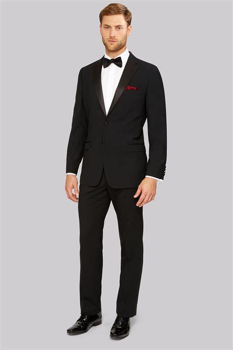 Tuxedo Black moss esq regular fit black notch tuxedo jacket