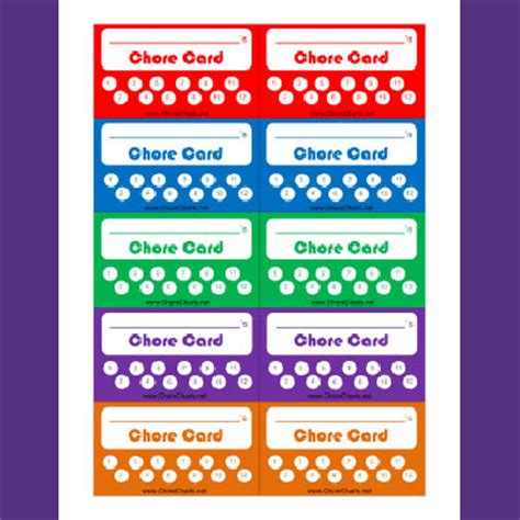 Chore Punch Card Template new printable chore charts