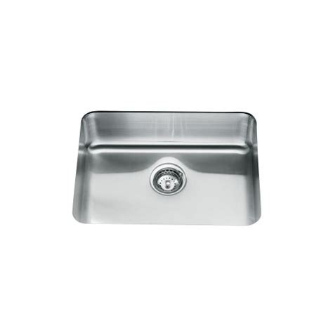 kohler stainless undermount sink kohler icerock 3332w single bowl stainless steel