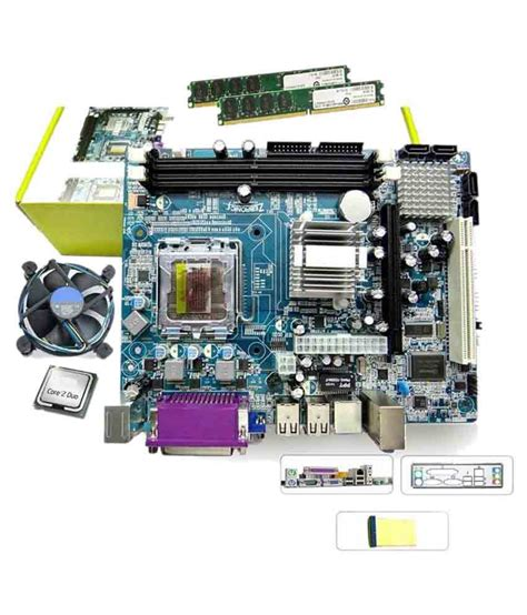 Ram Cpu 1gb maxsonic intel dual 1gb ddr2 ram motherboard kitoffer price in india