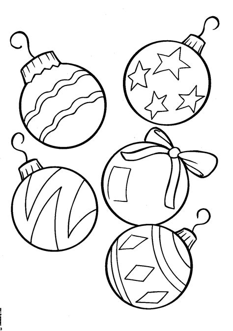 christmas balls coloring pagesfree coloring pages for kids