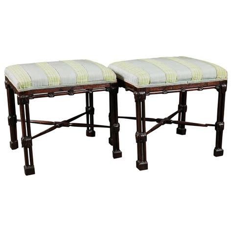 chinese chippendale bench pair of chinese chippendale benches for sale at 1stdibs