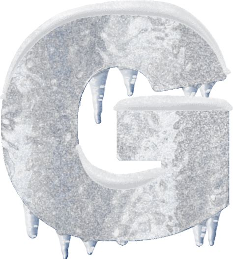 up letter with snow presentation alphabets and snow letter g