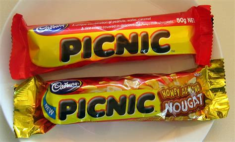 Cadbury Picnic Bar cadbury honey almond nougat picnic