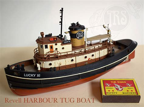 tugboat lucky xi harbour tug boat revell 1 108