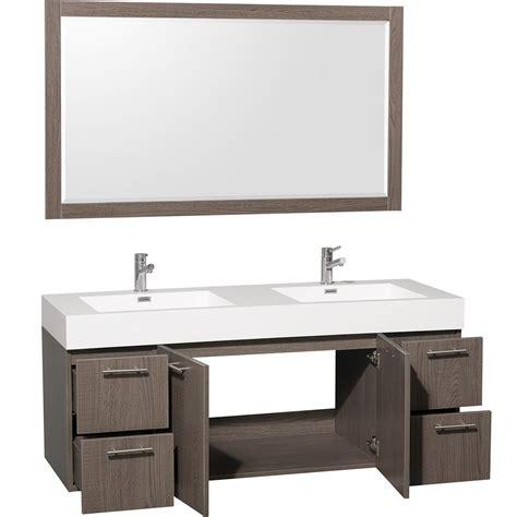 Gray Oak Vanity by 60 Quot Amare Sink Vanity Grey Oak Bathgems
