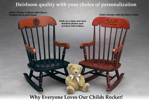 Childs Wooden Chair Personalised - child s rocker childrens rocking chair heirloom quality